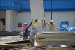 Składowanie materiałów na budowie