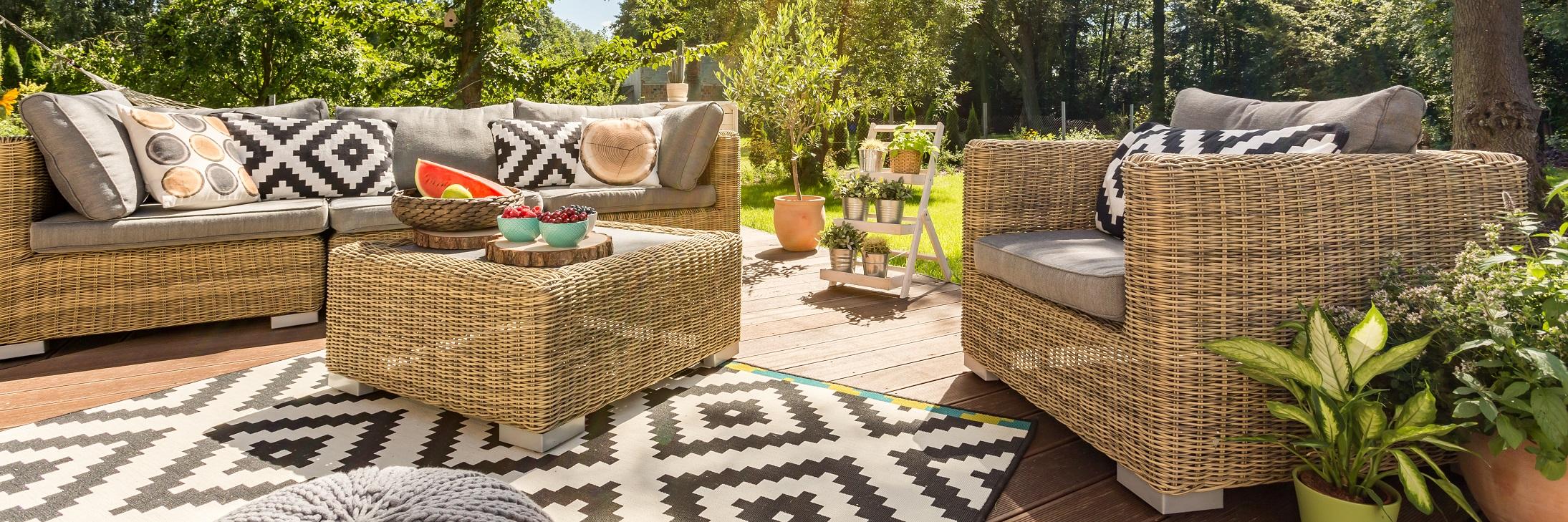 Zestaw mebli wypoczynkowych do ogrodu
