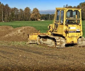 Działka pod budowę wyrównywanie terenu