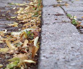 Obrzeża chodnikowe, palisada chodnika